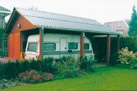 C6 Garage / Carport 780x630cm dubbelwandig rabat, golfplatendak