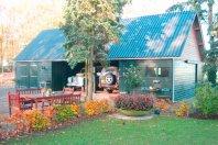 C4 Garage / Carport 1380x630cm dubbelwandig rabat, golfplaten dak