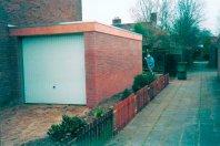 A5 Aanbouw 630x320cm dubbelwandig houtskelet / buitenzijde metselwerk, plat mastiek dak