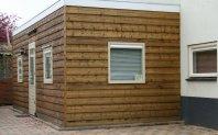 A10 Aanbouw bijkeuken dubbelwandig houtskelet - potdeksel - plat dak