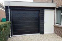 A11 Aanbouw garage dubbelwandig houtskelet - plat dak - zwarte potdekseldelen