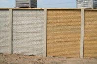 S11 steenmotief betonschutting grijs /geel