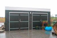 G18 Dubbele garage 930x630cm dubbelwandig houtskelet (potdeksel)