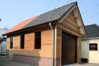 G24 Garage-600x350cm-prefab-betonwanden-met-daarop-houtskeletbouw