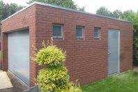 G46 600 x 500 cm binnenzijde houtskelet - buitenzijde metselwerk - plat dak